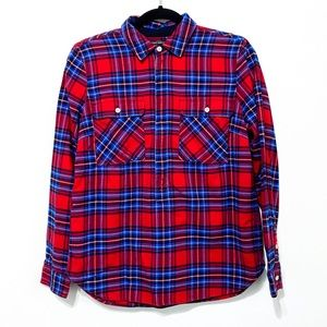J. Crew Plaid Flannel Popover Top Size XS